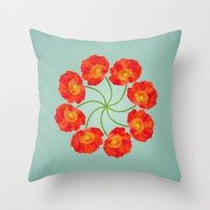 The Flower Vortex - Digital Work Throw Pillow