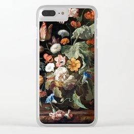 Still Life Flower Painting by Rachel Ruysch Clear iPhone Case