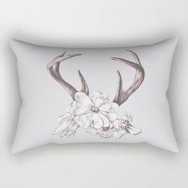 antler and magnolia Rectangular Pillow
