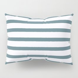 Blue stripes seamless pattern, from the Orange Blossom Pattern Collection Pillow Sham