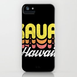 Retro Kauai Hawaii iPhone Case