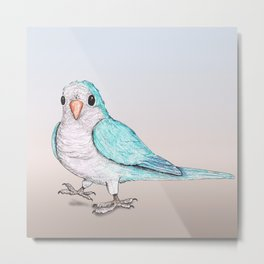 Perky parrot Metal Print