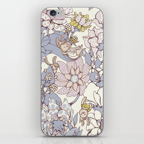 Garden party - jasmine tea version iPhone Skin