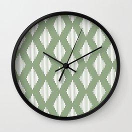 Diamond Lines <Sage Green> Wall Clock