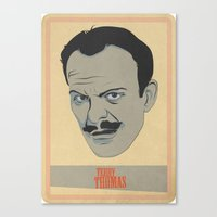 terry fan Canvas Prints featuring Terry by Thomas Saunders