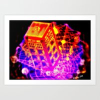 dr who Art Prints featuring Dr. Who by AJ Art