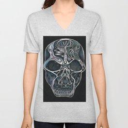 Decorative Skull Unisex V-Neck