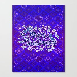 -A31- Merry Christmas Traditional Style. Canvas Print