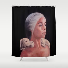 Mother Of Falcor oil on Canvas Shower Curtain