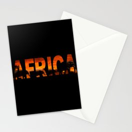 Africa Elephants Typography Stationery Cards