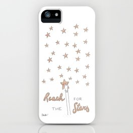 Reach for the Stars (gold version) iPhone Case