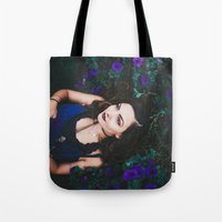 emily rickard Tote Bags featuring Emily by Savannah Daras