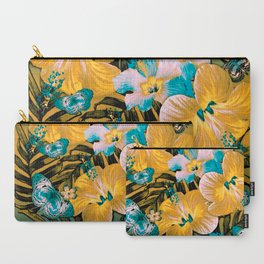 Golden Vintage Aloha Carry-All Pouch