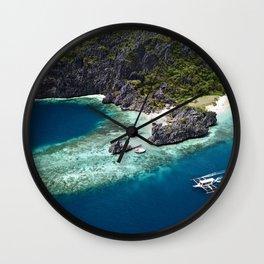 Island hopping around the Philippine Islands Wall Clock