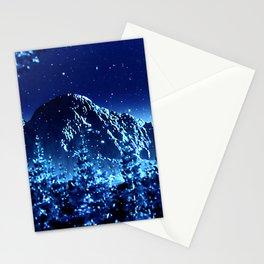 moonlight winter landscape Stationery Cards