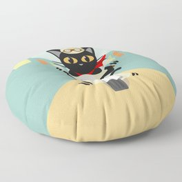 Scooter in the town Floor Pillow
