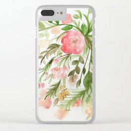 Watercolor Arrangement Clear iPhone Case