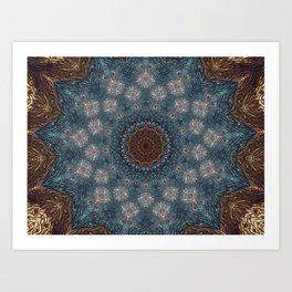 Shibori Blue Art Print