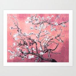Van Gogh Almond Blossoms : Peachy Pink Art Print