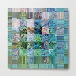 358 - Abstract squares design Metal Print