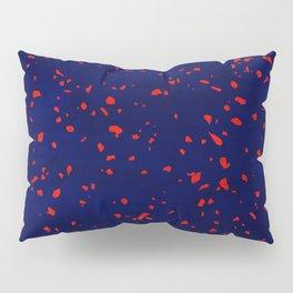 Terrazzo memphis blue galaxy orange Pillow Sham