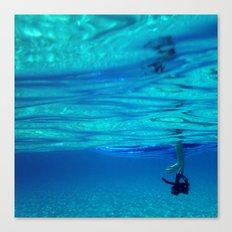 Bottomless blue Canvas Print