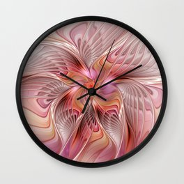 Abstract Butterfly, Fantasy Fractal Wall Clock