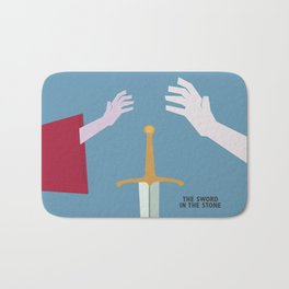 The Sword in the Stone - Movie Poster - Penguin Book version Bath Mat