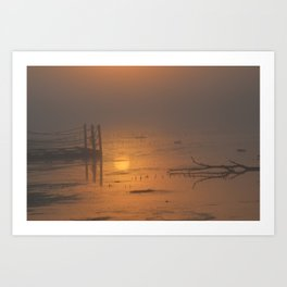 Sunrise on the Horicon Marsh Art Print