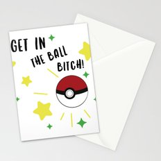Get in the ball >:0 !!! Stationery Cards