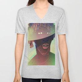 Ebony Coral Headdress Colors Unisex V-Neck