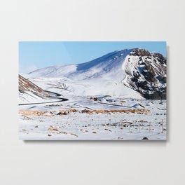 Winding Road, Iceland Metal Print