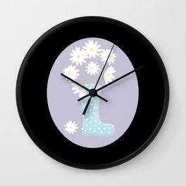 Rainboot Wall Clock