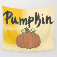 pumpkin Wall Tapestries featuring pumpkin by gasponce