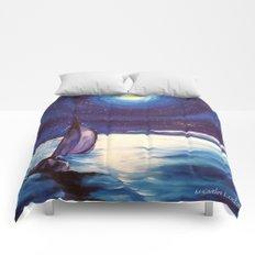 Moon-lit Sail Comforters