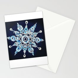 Snowflake in Petrykivka style Stationery Cards