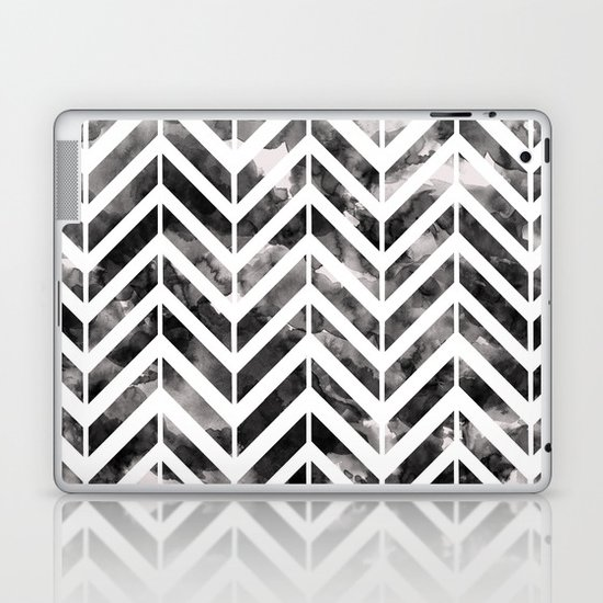 Brush Chevron Laptop & iPad Skin