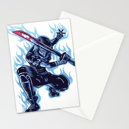 Ninja Flames Stationery Cards