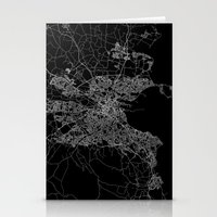 dublin Stationery Cards featuring Dublin map by Line Line Lines