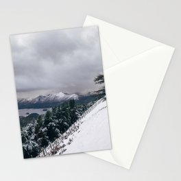 Views of Derwent Water from Latrigg, covered in snow. Cumbria, UK. Stationery Cards