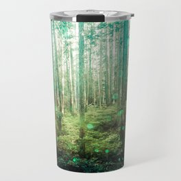 Magical Green Forest - Nature Photography Travel Mug