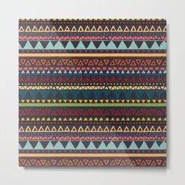 African geometric tribal pattern Metal Print