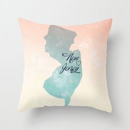 NJ is Home to Me Throw Pillow