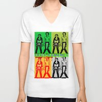 true blood V-neck T-shirts featuring True Romance by Terrestre