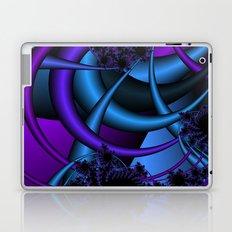 purple and blue fractal Laptop & iPad Skin