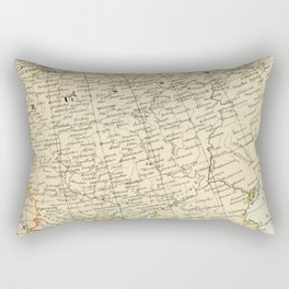 Old Map of the European Russia Rectangular Pillow