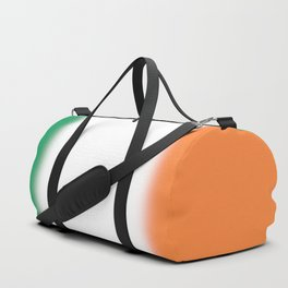 Green White and Orange Ombre Shaded Irish Flag Duffle Bag