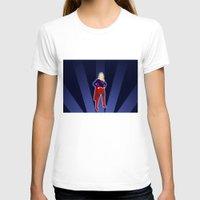 supergirl T-shirts featuring Supergirl by livinginamovie