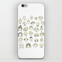 faces iPhone & iPod Skins featuring Faces by Wood + Ink