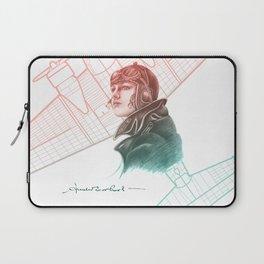 Amelia Earhart Courageous Adventurer Laptop Sleeve